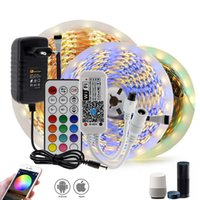 WIFI / BLUETOOTH RGB RGBW LED STREK START DC12V LED Strip 5050 5m 300leds + WiFi / Bluetooth Controller + Adaptador de corriente