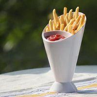 Fries Barril Francês Frie Cesta Bucket Bucket Duplo e Forte Frie Box Batatas Com Ketchup CCF7818