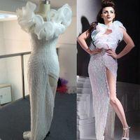 2015 Evening Dresses Bling vestidos de fiesta Sequins Luxury Beaded Organza Tulle Evening Gowns Dhyz 01