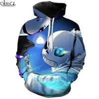 Cloocl 클래식 게임 undertale 재미 있은 후드 3D 인쇄 까마귀 스웨터 남성 / 여성 운동복 패션 캐주얼 스트리트웨어 남자 의류