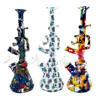Newest AK47 comes with base water pipe glass bong smoking pipes bowl Silicone beaker hookah TX-286