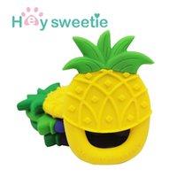 New fruit pineapple gutta percha baby monochrome silicone molar stick
