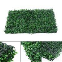 Декоративные цветы венки 40 * 60см Искусственная зеленая трава квадрат пластиковый газон растение дома украшения стены растения для семьи, эльт, живой RO