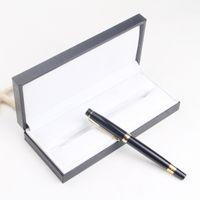Traje de pluma de cuero negro de alta calidad para pluma / bolígrafo de bolígrafo / bolígrafo de bolas / roller Funda de lápiz con el manual de garantía W0045