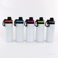 Süblimasyon Alüminyum Boşluklar Su Şişeleri 600 ml Isıya Dayanıklı Su Isıtıcısı Spor Renk Kapak Kolu Kolu Ile Nakliye T9I001162