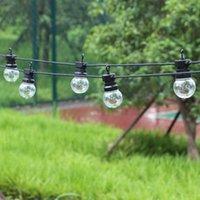 8/13 / 24m LED Globo String Fairy Lights Borde / Milky Navidad G50 Outdoor Outdoor Impermeable Garden Garden Partio Patio Decoración de la calle Y0720