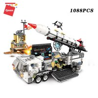 Thunder Plans Series Mission Commard Center building blocks toy rocket truck model educational bricks gift for children