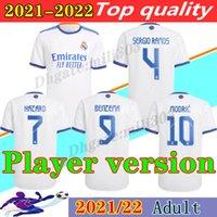 플레이어 버전 21 22 레알 마드리드 축구 유니폼 2021 2022 벤제 메이드 위험 Sergio Ramos Alaba Marcelo Modric Camiseta 축구 셔츠 유니폼