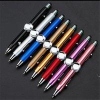 Gyro pen تململ لعبة الروتاري مكثف لغز التفكير الدوران القلم المعدن الكرة متعددة الوظائف إصبع إزالة الضغط القلم BWF5656