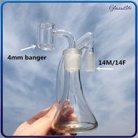 3 Inch Glass Ashcatcher 14mm Ash Catcher Reclaim with 4mm Quartz Banger Nail For Water Bongs Dab Rig Hookah Free Shipping