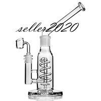 Congelável Bobina de vidro de vidro Bongo Bubbler Smoke Glass Burner Pipe Dab Rigs Recycler Oil Bong Hookahs Frete Grátis