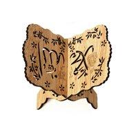 رمضان الديكور القرآن الكريم مسلم منحوتة كتاب حامل حامل تنهار رف الكتب عيد الفطر لوازم ديكور المنزل JK2103XB