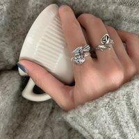 Band Rings Blessing Bag Korean Fashion Female Simple S925 Sier Purse Flower Thai Sier Student Index Finger Ring