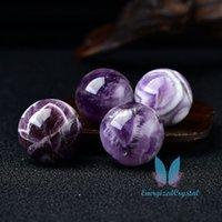 Chevron Ametista Crytsal Sephere Reiki Healing Ball Meditation Chakra Decor