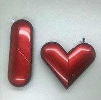 Складное бутановое бутановое зажигалка в форме сердца надувные металлические газовые зажигалки для курения сигареты Трубы аксессуары кухонные инструменты