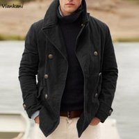 Men's Jackets Jacket Fashion Casual Line Pure Color Windbreaker Male Clothes Vintage Long Sleeve Men Trench Motorcycle Suit