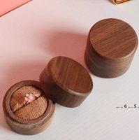 Vintage Schmuck Box Organizer Aufbewahrungskoffer Mini Holz Ringe Hüllen Schmuck Storager Handgemachte Naturhandwerk FWE4785
