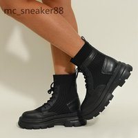 Autumn winter Martin boots women all-match thick-soled British style 6cm lace-up motorcycle plus velvet short boot size 35-40