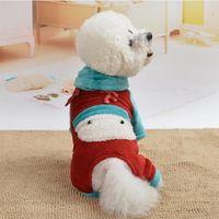 Abbigliamento per cani Abbigliamento natale inverno flanella morbida cucciolo tuta con cappuccio cappotti con cappuccio abbigliamento ropa giacche