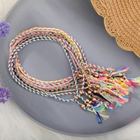 Friendship Braided Bracelet for Women Colorful Handmade String Wrap Bracelets Wrist Anklet Cord Adjustable Birthday Gifts