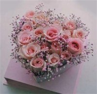 Rose Flor Box Acrílico Cubo transparente Cubo Cuadro Cuadro Caja de Caja de Regalo Partido Boda Paquete Floral En forma de corazón 108 V2