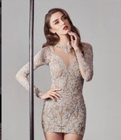 Evening dress Women dress Tight skirt with long sleeves set with diamond Yousef aljasmi Kim kardashian Kylie jenner Kendal