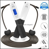 Jump Equipments Fitness Supplies Sports & Outdoorsjump Ropes Electronic Counting Rope Cord Cordless Professional Fat Burning Skip  9.8Ft Dig