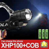 Powerful Led Headlight XHP100 Headlamp Led 18650 Head Usb Re...
