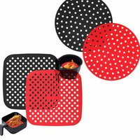 AirWare Herbruikbare Air Friteuse Lined Square Round Silicone Pan Pad Accessoires 3 Kleuren DWD8777