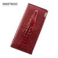Wallets Women Fashion Lady Wristlet Handbags Long Crocodile Skin Money Bag Fallow Coin Purse Cards Id Holder Clutch Woman Wallet