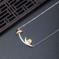 VLA 2021 925 Серебро Творческий дизайн Улитка Гриб Ожерелье Женщины Темперамент Прекрасные Сладкие Ювелирные Изделия