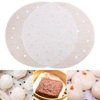 100 قطع جولة الخبز ورقة دائرة البرشمان ورقة بطانة شواء الفرن باتي همبرغر كعكة غير عصا الخبز أداة بالجملة