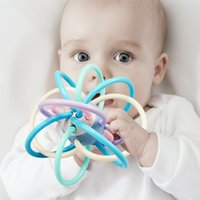 Works like a pacifier Hand ball baby teether balls molar stick can be boiled 3-6-12 months babys toy