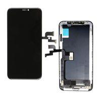 التكنولوجيا الجديدة لينة / الصعب شاشة OLED جودة أسود 5.8 'OLED الجمعية لفون X، شاشة تعمل باللمس TFT عرض Pantalla الهاتف المحمول LCD