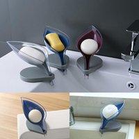 Листья формы мыло ящик для ванной комнаты держатель для хранения блюдо для хранения плиты поднос для ванной комнаты.