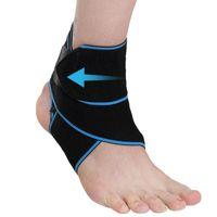 1 ADET Ayak Bileği Destek Brace Ayarlanabilir Sıkıştırma Ayak Bileği Parantez Spor Koruma Için Bir Boyut Askısı Elastik Ayak Bandajı