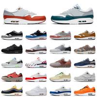 nike air max airmax 1 2020 nouvelle qualité Sneakers Hommes Femmes 1 Chaussures de course Noir Blanc Schematic Denham Université Formateurs haut de gamme Chaussures de sport