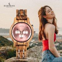 BOBO Bird Простое дерево Женщины Часы Reloj Mujer Miyota Кварцевые Движения Дамы Часы Пользовательские Наручные Часы Подарок с деревянной коробкой B-P18 210310