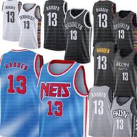 Nuevo James 13 Harden Jersey BrooklynNetoCiudadnbaJerseys de baloncesto Kyrie Kevin 7 Durant 11 Irving Biggie Small Spencer