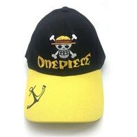 만화 옐로우 해적 왕 Meili 해골 힙합 밀짚 Luffy 야구 썬 증거 플랫 브림 모자