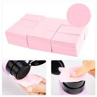 1pack Lingettes sans peluche Serviettes Nail Vernis Remover Gel Lingettes ongles Nail Cutton Pads Manucure Pédicure Gel Outils