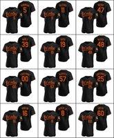 "Baltimore""Orioles #8 Cal Ripken Jr. 19 Chris Davis""16 Trey Mancini Men Women Youth Custom Black Authentic Alternate Jersey"