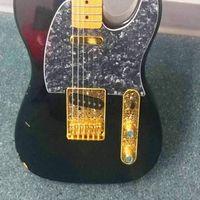 Modello per Tele Electric Guitar (Golden) Wanby Professional 6 String Saddle Bridge Plate Beautiful Decorative