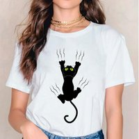 Women's T-Shirt Women Cartoon Cat Funny Womens Ladies Graphic Female Tee Clothing Casual Summer Spring T Shirt Clothes Tshirts