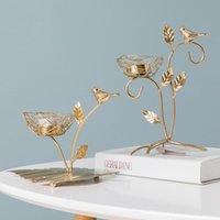 Tenedor de velas europeas Pilar de metal Partido Romántico de lujo con velas de lujo Decoraciones de la boda Portavelas Decoración del hogar Be50CD