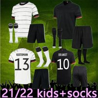 2021 22 Alemania Kit Kit de fútbol Jersey Soccer Jersey Hombre Hummels Kroos Gnabry Werner Draxler Reus Muller Gotze Camisas de fútbol Set de niños Set + Calcetines Uniformes