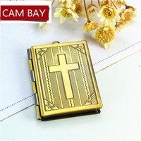 27 * 35mm Metal Lazo de metal Locket Flotante Biblia Libro Colgante Encantos DIY Photo Lockets Hecho A Mano Artesanía Hallazgos