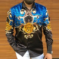 Men's Casual Shirts 2021 Streetwear Autumn Arrivals Long Sleeve Printing Single Breasted Cardigan Blouses Male Fashion Tops