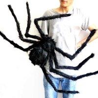 30 cm / 50 cm / 75 cm / 90 cm / 125 cm / 150 cm / 200cm czarny pająk Halloween Dekoracja nawiedzona Dom Prop Kryty Ogrodniczy Dekoracje P0830