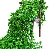 Искусственные лозы, шелковые виноградные листья гирлянда, имитация ротанга цветок, домашнее свадебное украшение